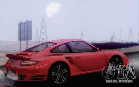 Porsche 911 Turbo para GTA San Andreas interior