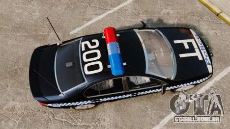 Ford BF Falcon XR6 Turbo Police [ELS] para GTA 4 vista direita