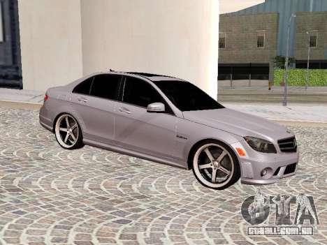 Mercedes-Benz C63 para GTA San Andreas esquerda vista