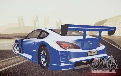 Hyundai Genesis Coupe 2010 Tuned para GTA San Andreas esquerda vista