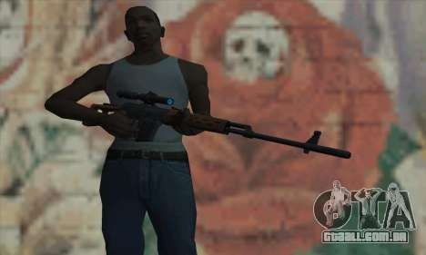 Dragunov Sniper Rifle para GTA San Andreas terceira tela