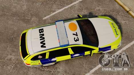 BMW 530d Touring Lancashire Police [ELS] para GTA 4 vista direita
