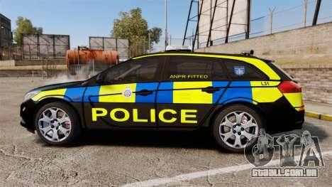 Vauxhall Insignia Sports Tourer Police [ELS] para GTA 4 esquerda vista