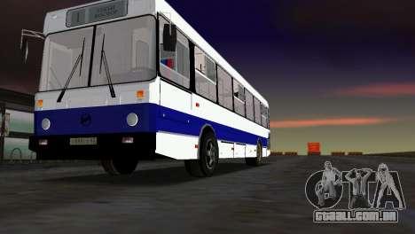 LIAZ-5256 para GTA Vice City vista traseira esquerda