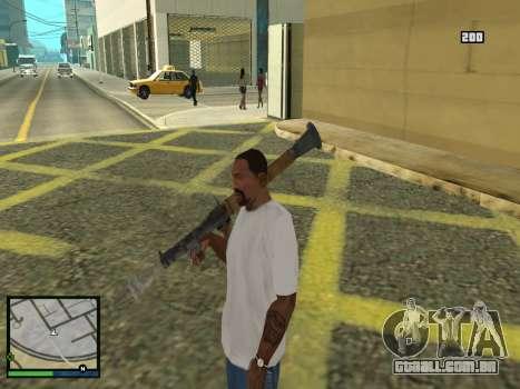 GTA 5 HUD v2 para GTA San Andreas sétima tela