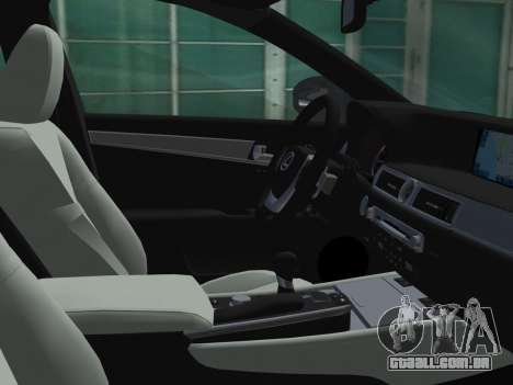 Lexus GS350 F Sport 2013 para GTA Vice City vista superior