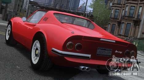 Ferrari Dino 246 GTS para GTA 4 traseira esquerda vista