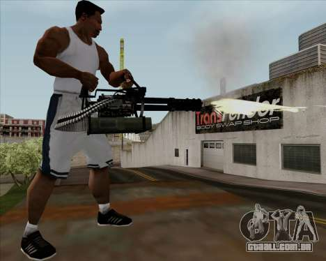 Renegades Minigun Black para GTA San Andreas quinto tela