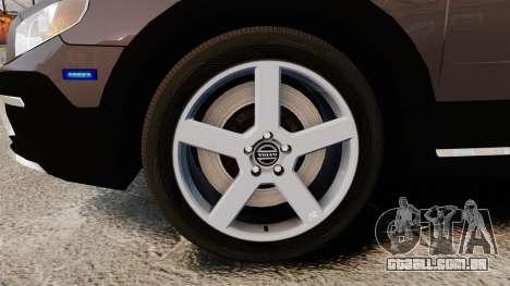Volvo XC70 2014 Unmarked Police [ELS] para GTA 4 vista de volta