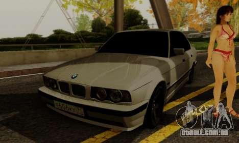 BMW 525 Re-Styling para GTA San Andreas vista interior