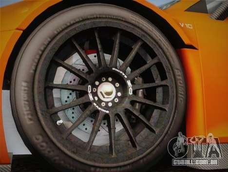 Audi R8 LMS v2.0.4 DR para vista lateral GTA San Andreas