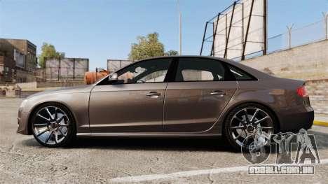 Audi S4 2013 Unmarked Police [ELS] para GTA 4 esquerda vista