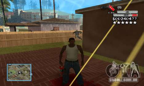 C-HUD by NickQuest para GTA San Andreas terceira tela