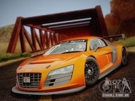 Audi R8 LMS v2.0.4 DR para GTA San Andreas vista interior