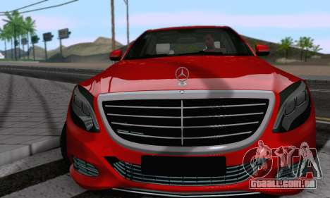 Mercedes-Benz W222 para GTA San Andreas vista direita