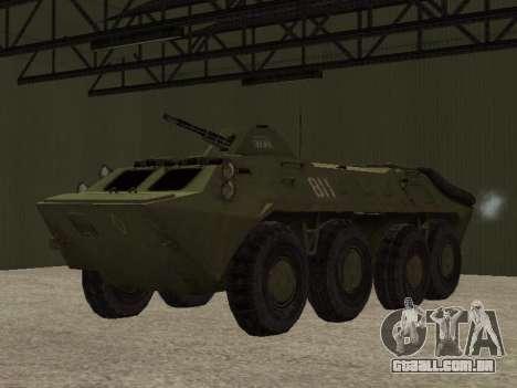 BTR-70 para GTA San Andreas vista traseira