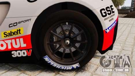 McLaren MP4-12C GT3 para GTA 4 vista de volta