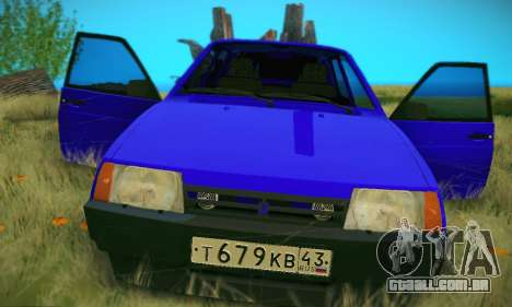 VAZ 21099 para GTA San Andreas vista inferior