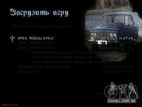 Menu Soviética carros para GTA San Andreas quinto tela