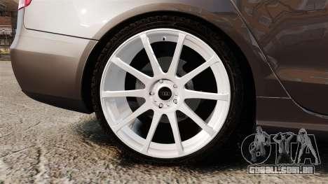 Audi S4 2013 Unmarked Police [ELS] para GTA 4 vista de volta