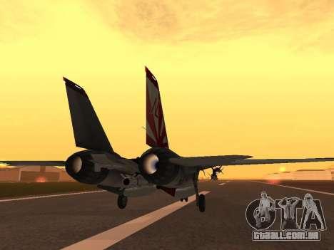 F-14 Tomcat HQ para GTA San Andreas vista direita