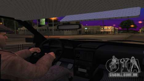 Audi 100 a Polícia ОБЭП para GTA San Andreas vista interior