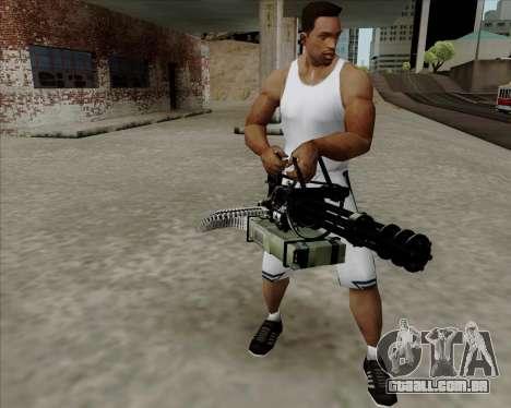 Renegades Minigun Black para GTA San Andreas segunda tela