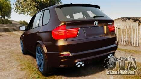 BMW X5M v2.0 para GTA 4 traseira esquerda vista
