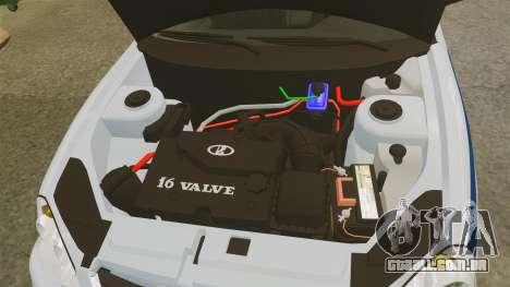 VAZ-2170 Polícia para GTA 4 vista interior