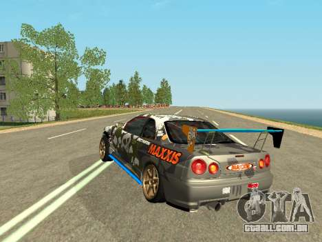 Nissan Skyline Drift para GTA San Andreas traseira esquerda vista