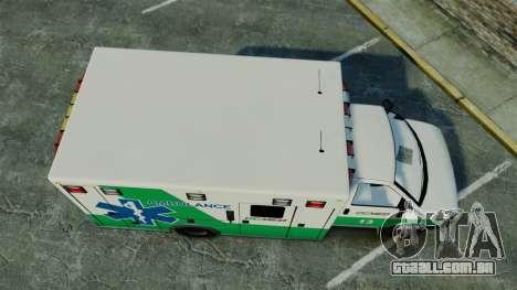 Brute GQ Med Ambulance [ELS] para GTA 4 vista direita