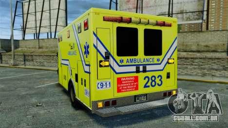 Brute New Liberty Ambulance [ELS] para GTA 4 traseira esquerda vista