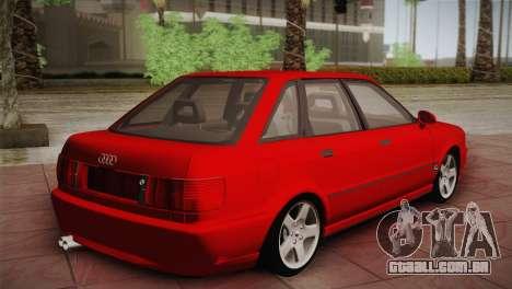 Audi 80 B4 RS2 para GTA San Andreas traseira esquerda vista