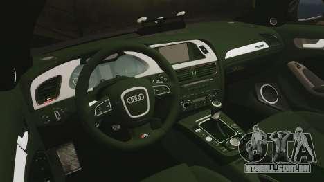 Audi S4 2013 Unmarked Police [ELS] para GTA 4 vista lateral