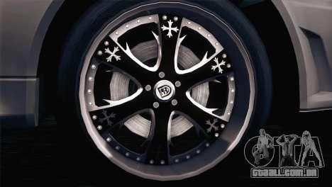Nissan Skyline GT-R R34 V-Spec Lexani Rims para GTA San Andreas esquerda vista