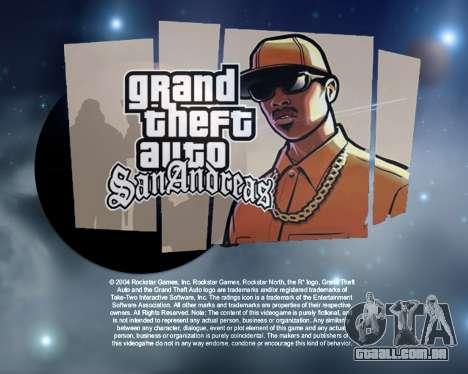 Novas telas de inicialização Espaço para GTA San Andreas segunda tela