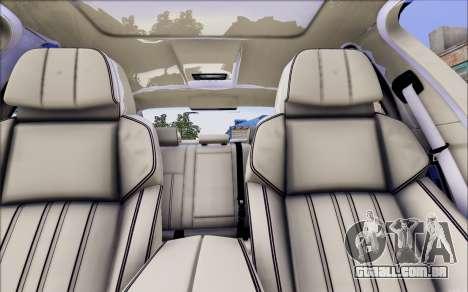 BMW 550 F10 xDrive para GTA San Andreas vista traseira