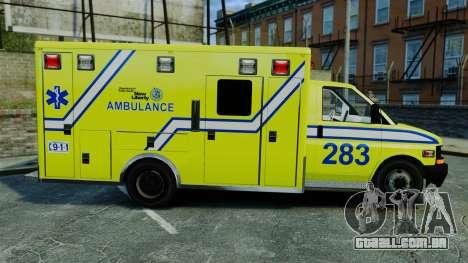Brute New Liberty Ambulance [ELS] para GTA 4 esquerda vista