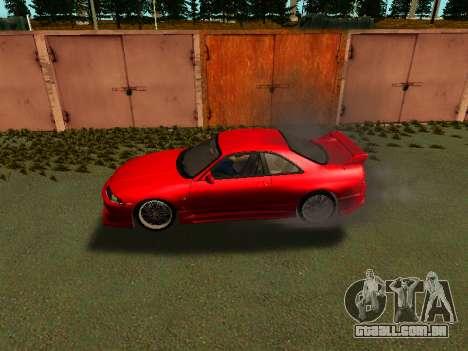 Nissan Skyline R33 GT-R V-Spec para GTA San Andreas traseira esquerda vista