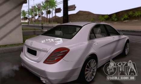 Mercedes-Benz W222 para vista lateral GTA San Andreas