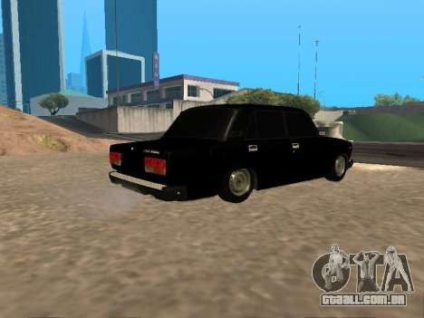 Vaz-2107 v. 1.2 Final para GTA San Andreas vista direita