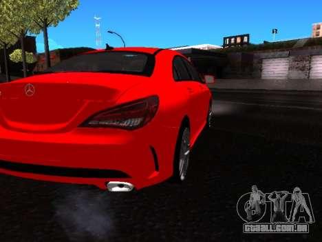 Mercedes-Benz CLA 250 para GTA San Andreas vista traseira