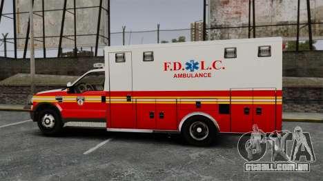 Ford F-250 Super Duty FDLC Ambulance [ELS] para GTA 4 esquerda vista