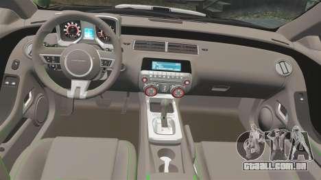 Chevrolet Camaro Police [ELS-EPM] para GTA 4 vista de volta