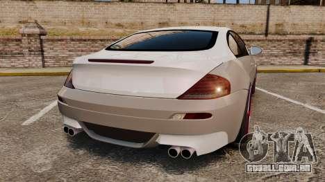 BMW M6 Vossen para GTA 4 traseira esquerda vista