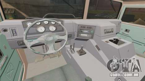 Dongfeng EQ2050 para GTA 4 vista interior