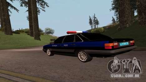 Audi 100 a Polícia ОБЭП para GTA San Andreas esquerda vista
