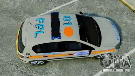 Vauxhall Astra Metropolitan Police [ELS] para GTA 4 vista direita