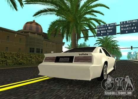Buffalo HD para GTA San Andreas esquerda vista