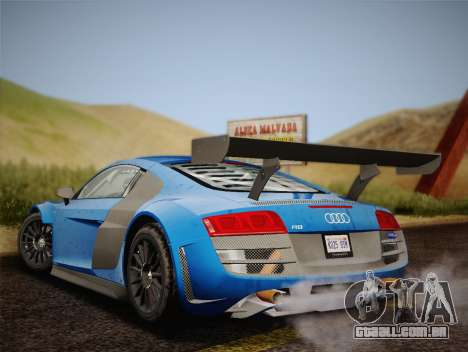 Audi R8 LMS v2.0.4 DR para GTA San Andreas vista direita